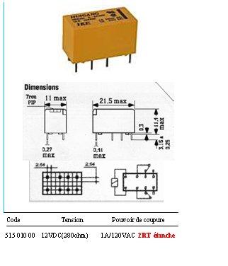 relais 12v 2rt dil. Black Bedroom Furniture Sets. Home Design Ideas